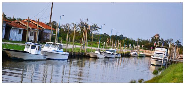 La charmant port d'Audenge...