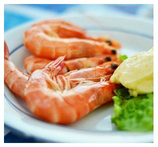 Crevettes et mayonnaise maison