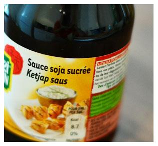 2 cuillères à soupe de sauce soja